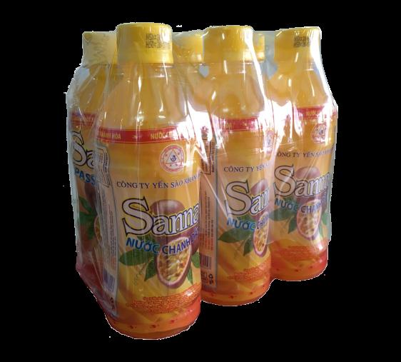 Nước chanh dây Sanna, lốc 6 chai